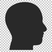 Head Profile Vector Icon Stock Illustration