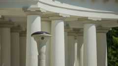 White pillars on a building Stock Footage