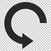 Rotate Right Vector Icon Stock Illustration