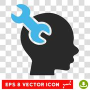 Brain Service Wrench Eps Vector Icon Stock Illustration