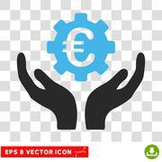 Euro Maintenance Eps Vector Icon Stock Illustration