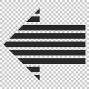 Stripe Arrow Left Vector Icon Stock Illustration