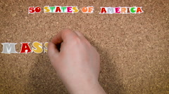 50 states of America. State of Massachusetts Stock Footage