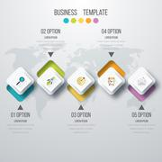 Vector illustration infographic five options Stock Illustration