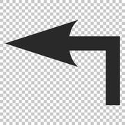 Turn Left Vector Icon Stock Illustration