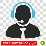 Support Manager Eps Vector Icon Stock Illustration