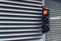 Road signal at car park Stock Photos