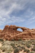 Scenic view of Skyline Arch against sky, Arches National Park, Moab, Utah, USA Kuvituskuvat