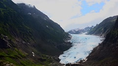 Bear glacier near Stewart, Canada Stock Footage