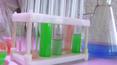 Glass Test Tube In Laboratory Stock Footage
