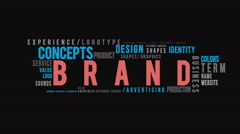 Brand Typography Intro Stock Footage