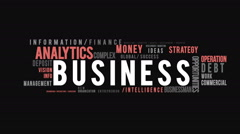 Business Typography Intro Stock Footage