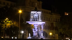 Stone fountain in Madrid Stock Footage