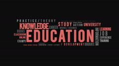 Education Typography Intro Stock Footage