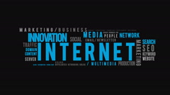 Internet Typography Intro Stock Footage