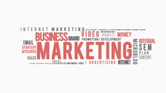Marketing Typography Intro Stock Footage