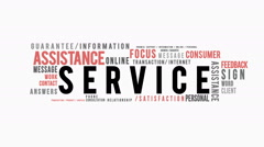 Service Typography Intro Stock Footage