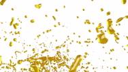Big splashes of yellow liquid. syrup Stock Footage