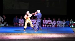 Demonstration combat. Stock Footage