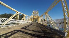 Old California Draw Bridge Driving Shot Time Lapse Stock Footage