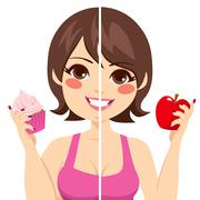 Before After Diet Stock Illustration