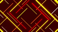 Red abstract background, moving lines and shapes, loop Stock Footage