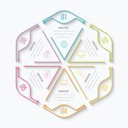 Thin line infographic element Stock Illustration