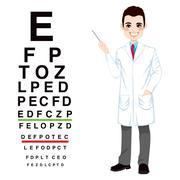 Professional Male Optician Stock Illustration