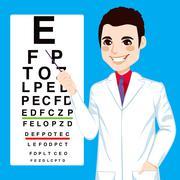 Optician Man Pointing Stock Illustration