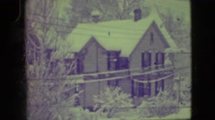 1945: a house is covered with snow completely NEW YORK Stock Footage
