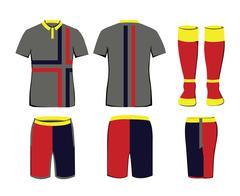 Sportswear vector template Stock Illustration