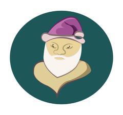 Santa Claus round icon Stock Illustration