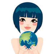 Asian Earth Woman Stock Illustration