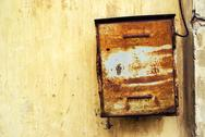 Old rusty weathered mailbox Stock Photos