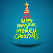 Christmas Tree Silhouette Banner Stock Illustration