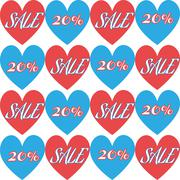 Happy Valentine's Day Greeting Card Stock Illustration