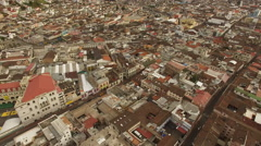 Aerial View of Quito Ecuador Downtown Core Stock Footage