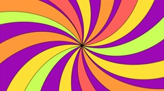 Colorful spiral vortex looping background Stock Footage
