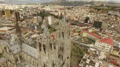 Basílica del Voto Nacional - Rotating Aerial Stock Footage