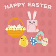 Happy Easter Greeting Card Stock Illustration
