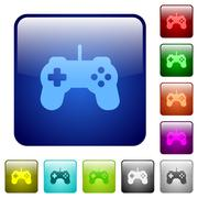 Color game controller square buttons Stock Illustration