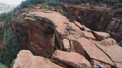 Devils Bridge With Onlookers Wide- Sedona Arizona Stock Footage