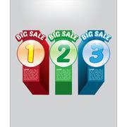 Big Sale Promotional Vector Flyer Stock Illustration