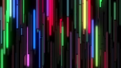 Wall of animated colorful neon lamps Stock Footage