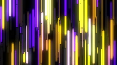 Blinking colorful neon lamps flow Stock Footage