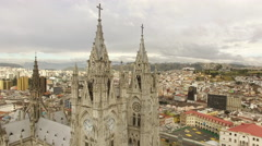 Catholicism in South America - Cathedral in Quito Ecuador Stock Footage