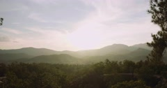 Slow pan of a gorgeous landscape in Pai, Thailand Stock Footage