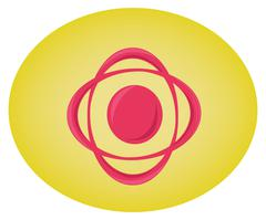 Circular swirl graphic elements Stock Illustration