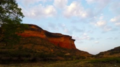 Moving clouds at sunset, Golden Gate Highlands National Park, South Africa. Stock Footage