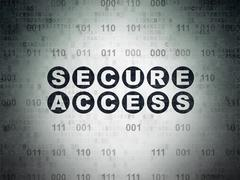 Protection concept: Secure Access on Digital Data Paper background Stock Illustration